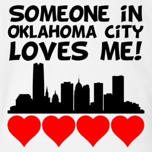 Someone In Oklahoma City Oklahoma Loves Me - Short Sleeve Baby Bodysuit