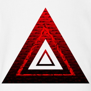 Red Ruby Rose Pyramid - Short Sleeve Baby Bodysuit
