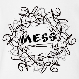 mess - Short Sleeve Baby Bodysuit