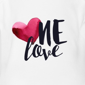 ONE LOVE - Short Sleeve Baby Bodysuit
