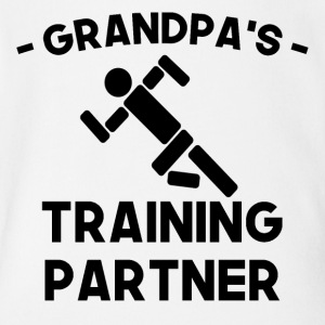 Grandpa's Training Partner - Short Sleeve Baby Bodysuit