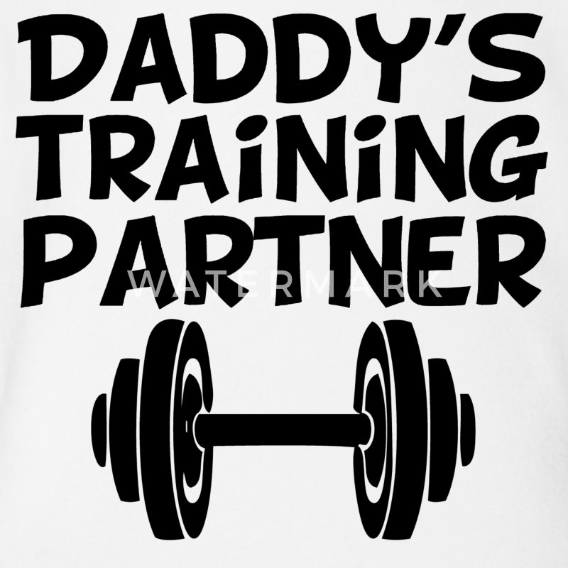 Daddy's Training Partner - Short Sleeve Baby Bodysuit