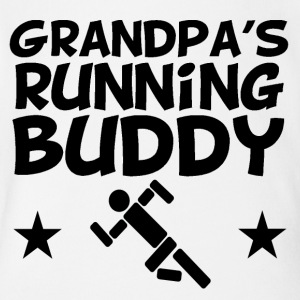 Grandpa's Running Buddy - Short Sleeve Baby Bodysuit
