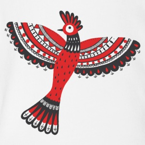 The red bird - Short Sleeve Baby Bodysuit