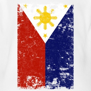 Filipino Vintage Distressed Philippines Flag - Short Sleeve Baby Bodysuit