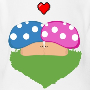 Mushies Kisses - Short Sleeve Baby Bodysuit