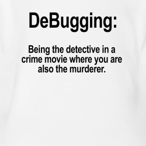 DeBugging Funny Coder Programmer Tee Shirt - Short Sleeve Baby Bodysuit