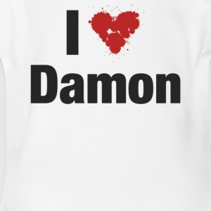 I Heart Damon - Short Sleeve Baby Bodysuit