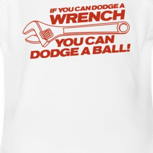 If You Can Dodge A Wrench You Can Dodge A Ball - Short Sleeve Baby Bodysuit