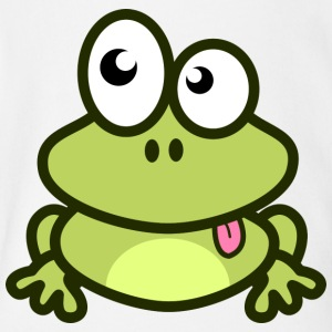 Funny green Frog with eyes - Short Sleeve Baby Bodysuit