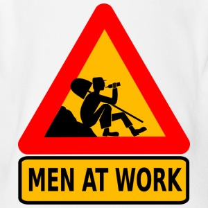 Men at Work Funny Work Shirt Construction - Short Sleeve Baby Bodysuit