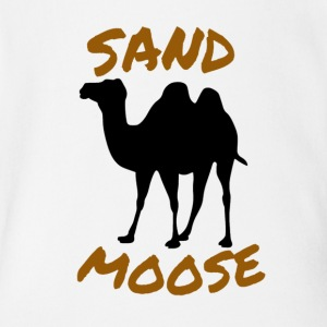 SAND MOOSE SHIRT FUNNY ANIMAL DESIGNS - Short Sleeve Baby Bodysuit