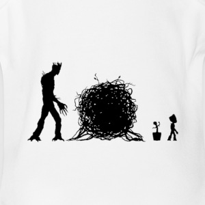 groot story - Short Sleeve Baby Bodysuit
