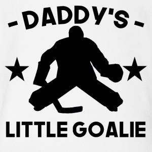 Daddy's Little Goalie Hockey - Short Sleeve Baby Bodysuit