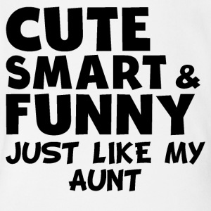 Cute Smart And Funny Like My Aunt - Short Sleeve Baby Bodysuit