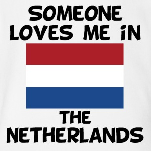 Someone In the Netherlands Loves Me - Short Sleeve Baby Bodysuit