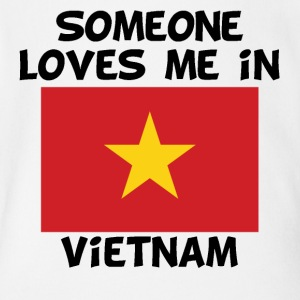 Someone In Vietnam Loves Me - Short Sleeve Baby Bodysuit