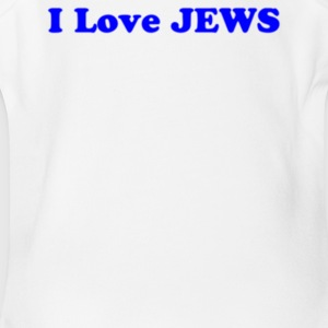 I Love JEWS - Short Sleeve Baby Bodysuit