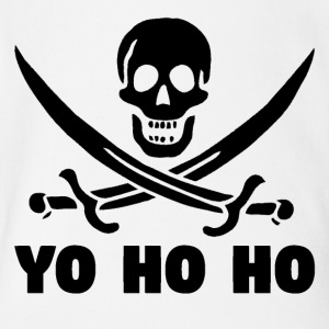 Yo Ho Ho Pirate Skull - Short Sleeve Baby Bodysuit
