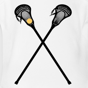 Lacrosse is a fun sport - Short Sleeve Baby Bodysuit