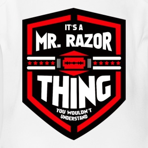 It's a Mr Razor Thing Trini - Short Sleeve Baby Bodysuit