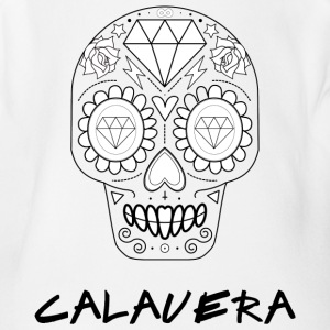 Calavera black - Short Sleeve Baby Bodysuit