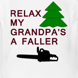 relax my grandpa's a faller - Short Sleeve Baby Bodysuit