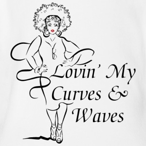 Curves Waves Trans - Short Sleeve Baby Bodysuit