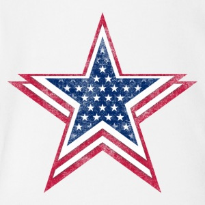 4th of July Big star, happy independence day - Short Sleeve Baby Bodysuit