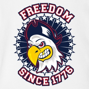 FREEDOM EAGLE Freedom since 1776 - Short Sleeve Baby Bodysuit