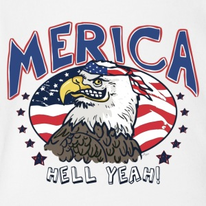 Merica Hell Yeah Patriotic Bald Eagle - Short Sleeve Baby Bodysuit
