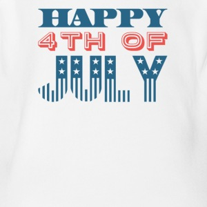 Happy 4th of July Independence Celebration - Short Sleeve Baby Bodysuit