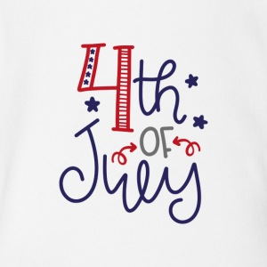 4th of july Independence Day USA - Short Sleeve Baby Bodysuit