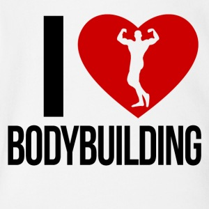 I LOVE BODYBUILDING - Short Sleeve Baby Bodysuit