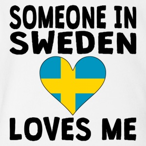Someone In Sweden Loves Me - Short Sleeve Baby Bodysuit