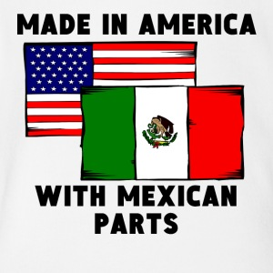 Made In America With Mexican Parts - Short Sleeve Baby Bodysuit