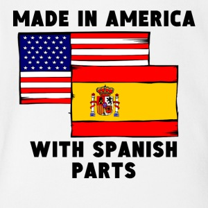 Made In America With Spanish Parts - Short Sleeve Baby Bodysuit