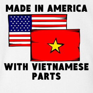 Made In America With Vietnamese Parts - Short Sleeve Baby Bodysuit