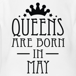 Queens Are Born In May 2 - Short Sleeve Baby Bodysuit