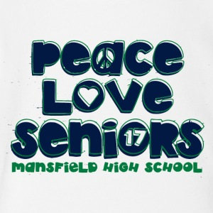 peace love seniors mansfield high 17 - Short Sleeve Baby Bodysuit