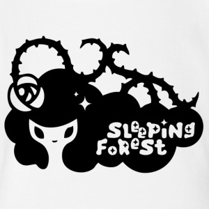 Sleeping Forest - Short Sleeve Baby Bodysuit