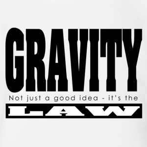Gravity it's the Law - Short Sleeve Baby Bodysuit