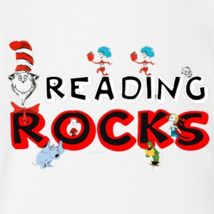 rock reading - Short Sleeve Baby Bodysuit