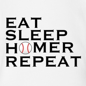 Eat, Sleep, Homer, Repeat - Short Sleeve Baby Bodysuit