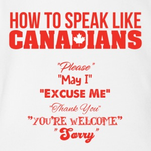 How to Speak Like Canadians - Short Sleeve Baby Bodysuit