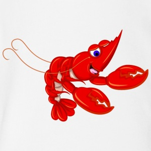 Lobster food sea animal wildlife - Short Sleeve Baby Bodysuit