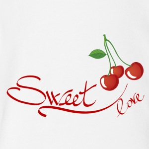 sweet love cherry - Short Sleeve Baby Bodysuit