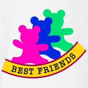 best friends / friends - Short Sleeve Baby Bodysuit