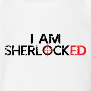 I AM SHERLOCKED - BLACK - Short Sleeve Baby Bodysuit