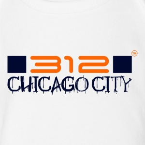 312CHICAGO CITY - Short Sleeve Baby Bodysuit